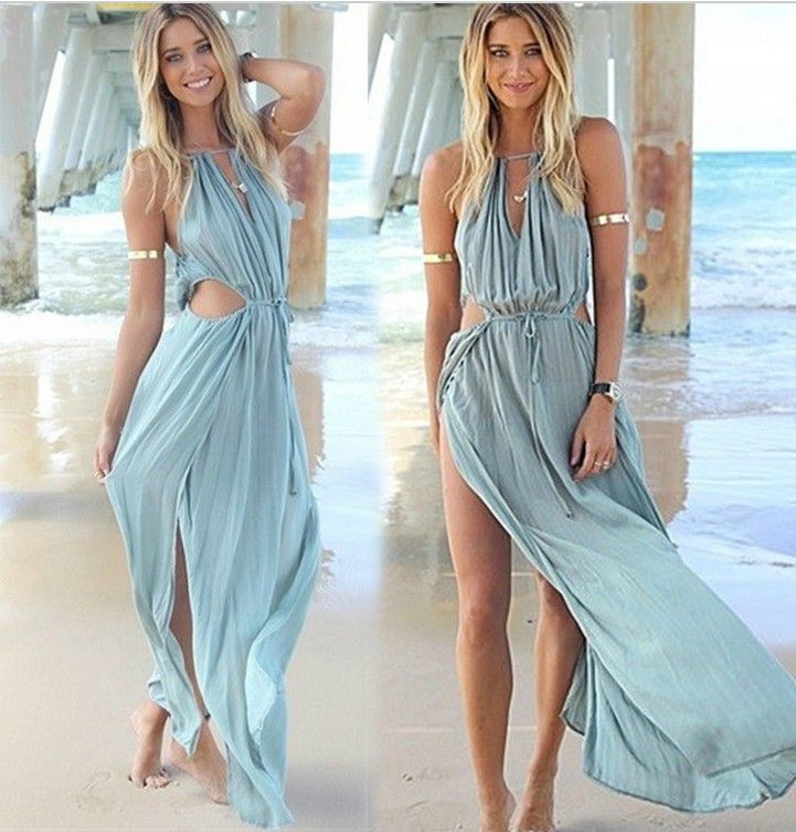 Sexy Bohemian Chiffon Beach Dress