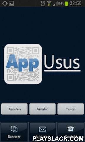AppUsus QR-Code-Scanner  Android App - playslack.com ,  Eine App zum Scannen von QR-Codes. Mit der AppUsus QR-Scanner App erfahren Sie was hinter dem QR-Code steckt. Egal ob es eine URL, ein Text oder ein Code ist, die AppUsus QR-Scanner-App zeigt es Ihnen ganz einfach: AppStarten, QR-Scanner aktivieren, fertig.Ausserdem finden Sie in der App KontaktInformationen zu AppUsus und der BlueMarket AG. An app to scan QR codes. With the AppUsus QR scanner app, find out what is behind the QR code…