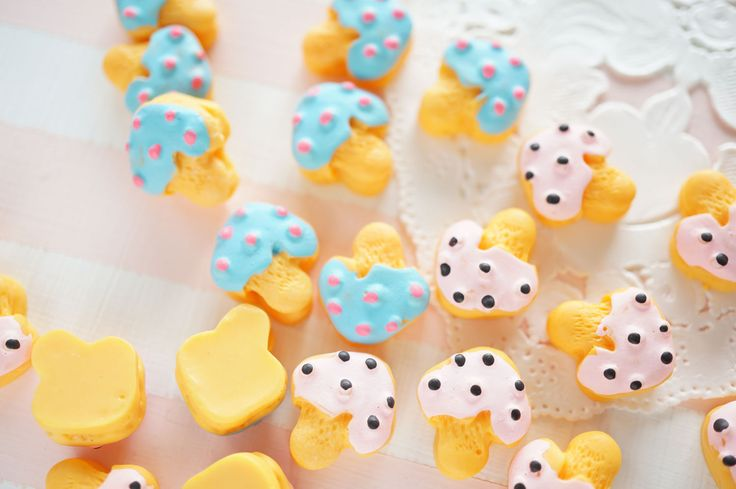 8 pcs Kawaii Poisonous  Mushroom Cookie Cabochon (14mm16mm) CD698 by Candydecoholic on Etsy