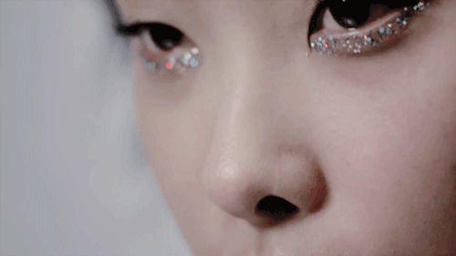 """confetti"" style multi colour pastel glitter tone under eye makeup"