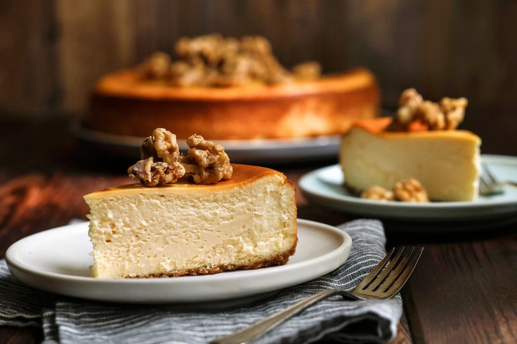 Why doesn't maple syrup find its way to American cheese platters the way chestnut honey does to Italian ones We think it works particularly well with subtle, creamy cheeses, a conviction that inspired our riff on a classic New York cheesecake.