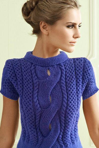 Giezen PDF Pattern Sweater Cable Crossed Honeycomb from Giezen Luxury Knitting by DaWanda.com
