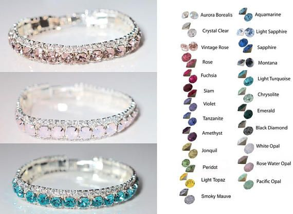 Choose Your Accent Colour  Handmade Sparkling Crystal