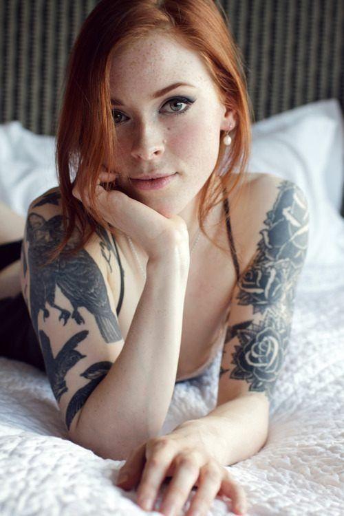 Tattoos + red hair