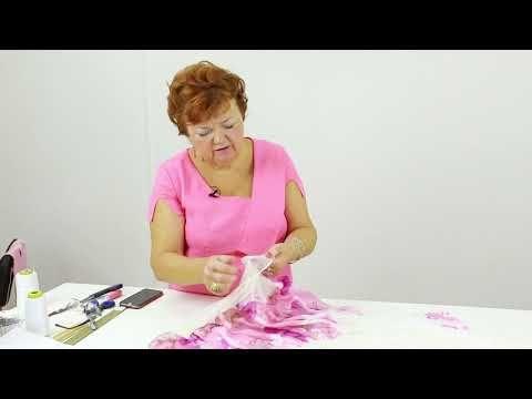 (1) Платье из шифона и сеточки - YouTube