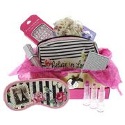 Our online exclusive Pretty Princess gift box has everything a girl needs. A cute cosmetics bag, necklace, earrings, 3 heart lipsticks, bling lip gloss, bling mirror, flower brooch, super-cool solar changing false nails and an eye mask. How cute is this for a true best friend? Box measures 210mm H x 160mm W x 80mm D.