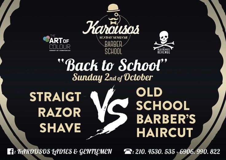 #karousos #barber #gentlemen #sundayseminar #oldschool #razorfated #straighrazor #barbertraining #artofcolour #bluebeard