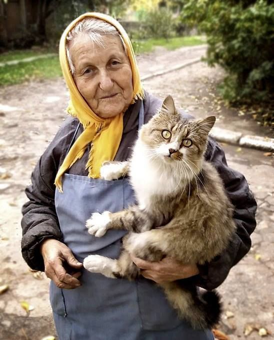 Miriam and Smokey are seen around the village most every day.