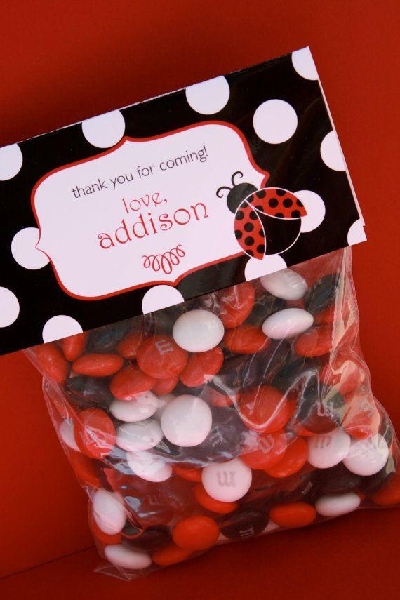 Printable Personalized Bag Toppers Ladybug by FlyAwayDesignShop, $8.00
