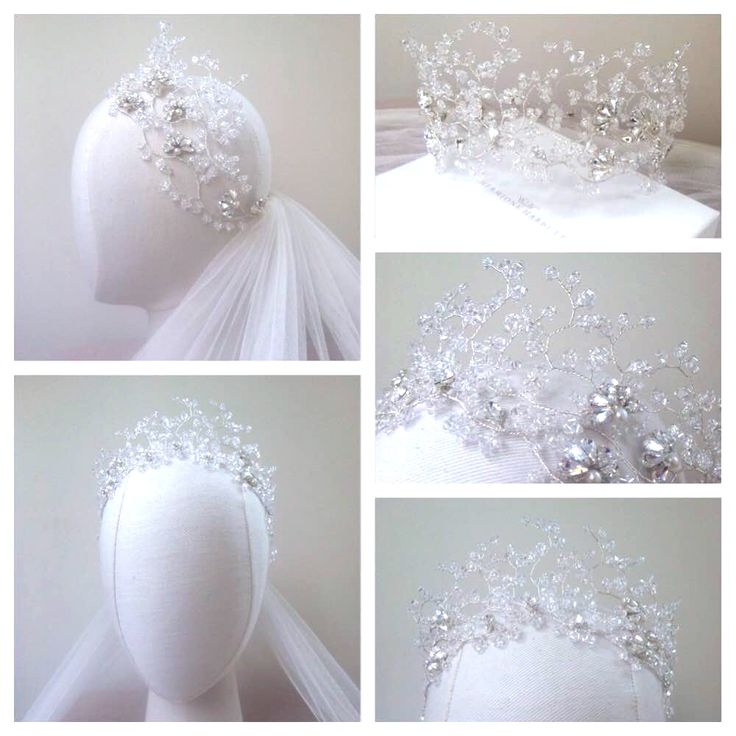 Hermione Harbutt bespoke Nadine Crystal Crown. https://www.hermioneharbutt.com/wedding/hair_accessories/buy.php?Product=383&Title=Nadine+Crystal+Garland