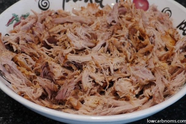 low carb pulled pork - suitable for keto, paleo, atkins diet
