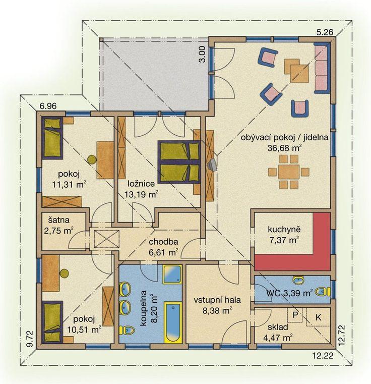 Rodinný dům Bungalov Line 113 – dřevostavba, bungalov na klíč