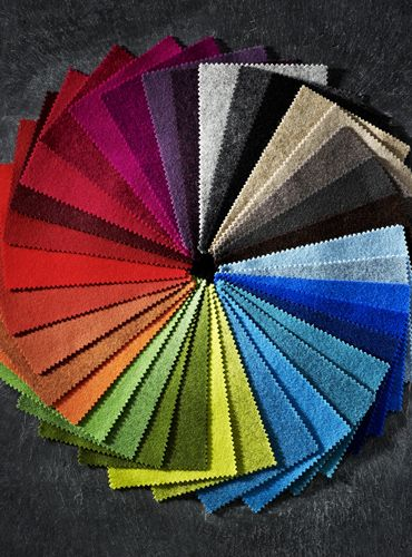 wool fabric  color range