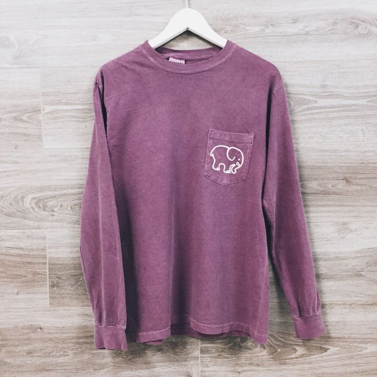 Purple Long Sleeve Shirt Womens