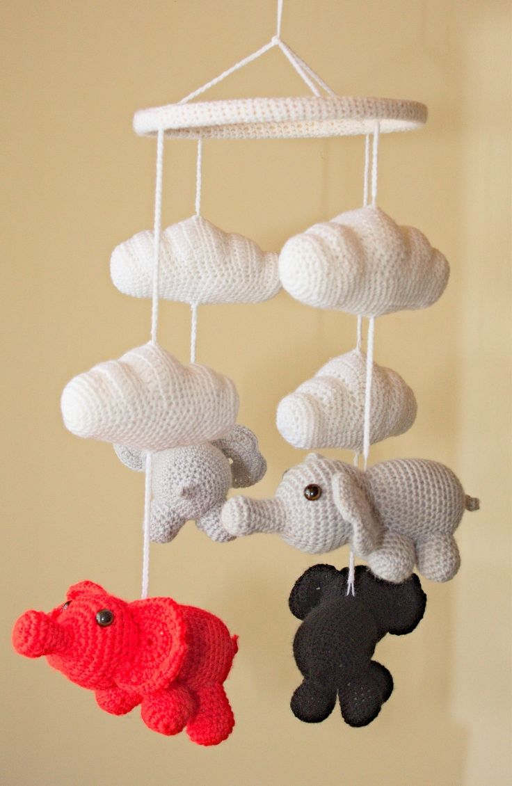 Crochet nursery elephant