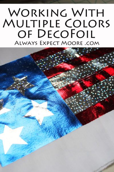 How to work with Multiple Colors of iCraft Decofoil
