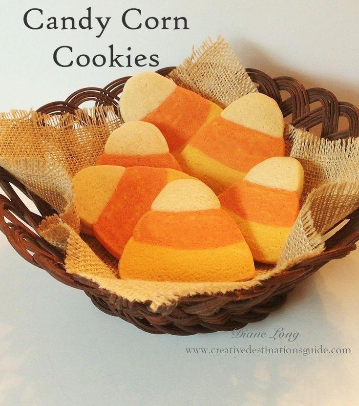 Candy Corn Cookies  www.creativedestinationsguide.com