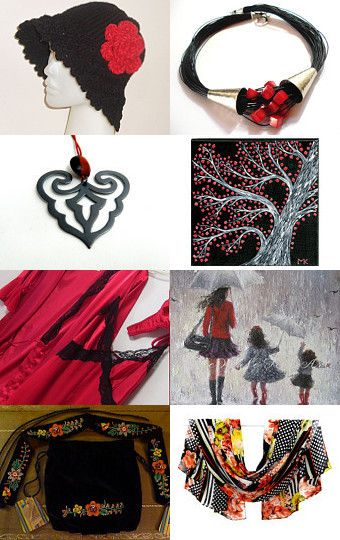 Black and Red  by Maria Ferreira on Etsy--Pinned with TreasuryPin.com