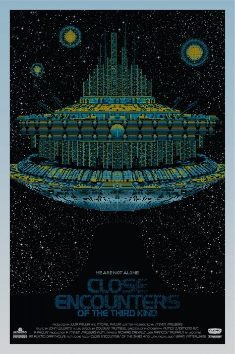 Close Encounters of the Third Kind by Todd Slater for Mondo.: World Posters, Movie Posters, Tv Posters, Movies, Film Poster, Close Encounters, Kind 1977, Todd Slater