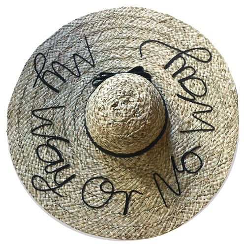 My Way or No Way Beach Hat Weekend by Project Fifteen
