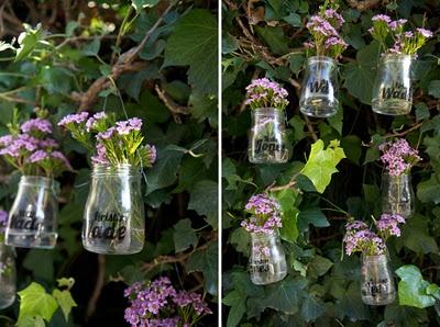 vidros: Diy Home Decor, Baby Food Jars, Escort Cards, Glasses Jars, Parties Ideas, Mason Jars, Places Cards, Gardens Parties, Paintings Jars