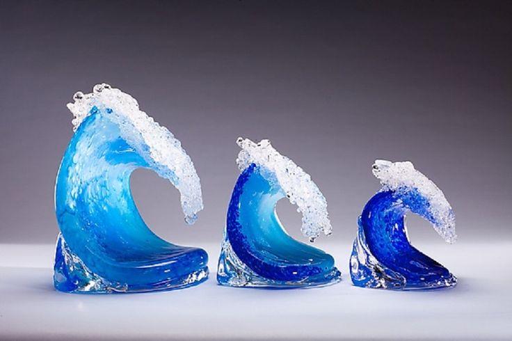 Surfing Wave Sculpture Statue by Geoff Lee