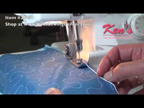 Janome Serger Cording Foot - YouTube