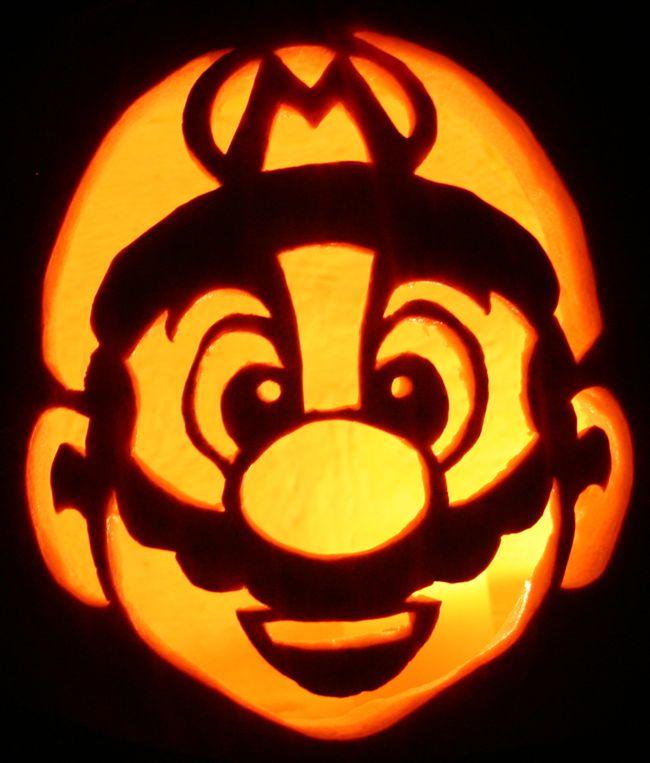 batman+pumpkin+carving+patterns | Geek Art Gallery: Quick Pic: Nintendo Game Pumpkins