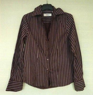 Brązowa koszula w paski elegancka bluzka koszulowa