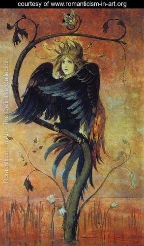 Gamayun, The prophetic bird, 1897 - Viktor Vasnetsov - www.romanticism-in-art.org