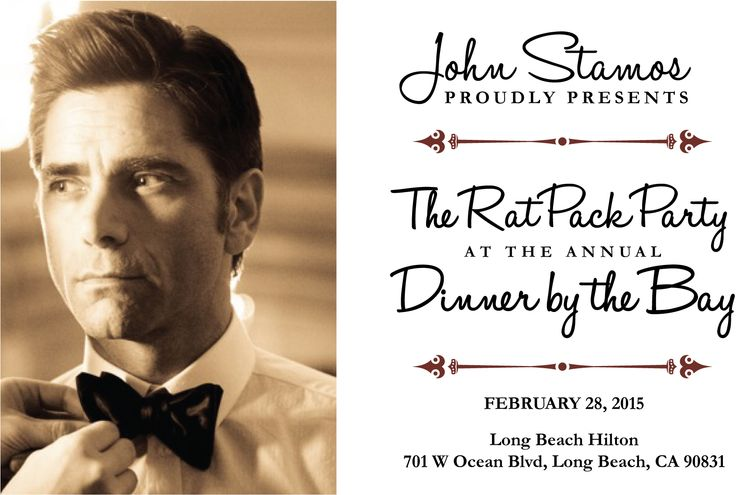 the national spokesperson for project cuddle john stamos proudly presents the rat pack party