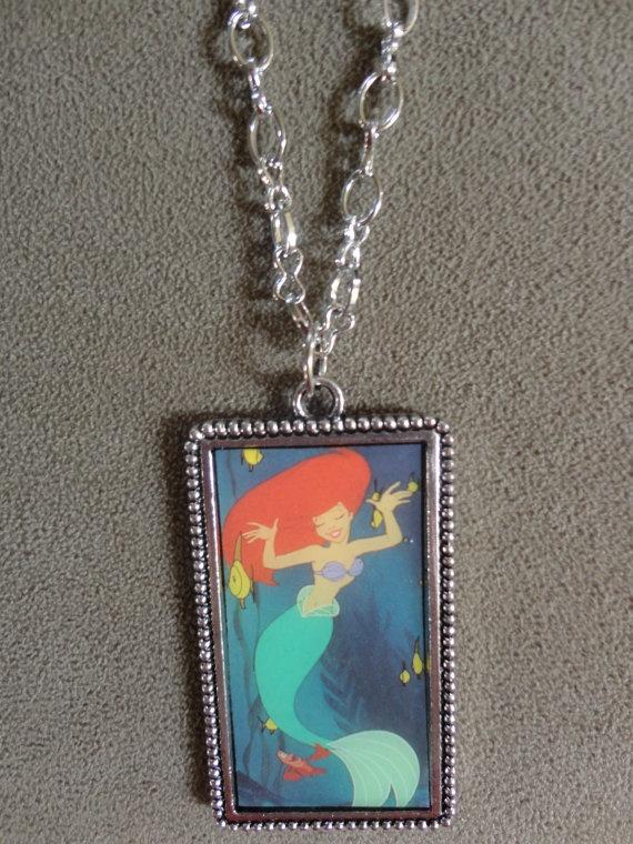 Cute! Vintage 1991 Little Mermaid Ariel & Sebastian by TicketTrinkets, $35.00