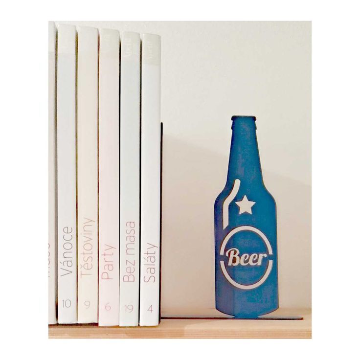 Beer Bookend - any colour by KureliDesign on Etsy
