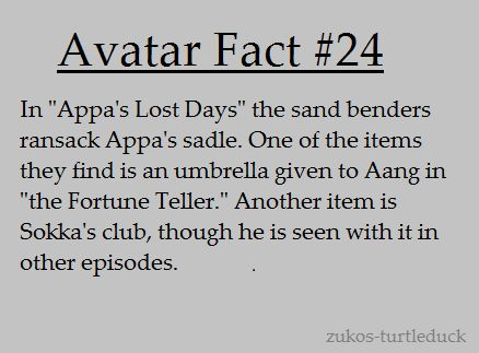 avatar fact | Tumblr I noticed that when re-watching the series.