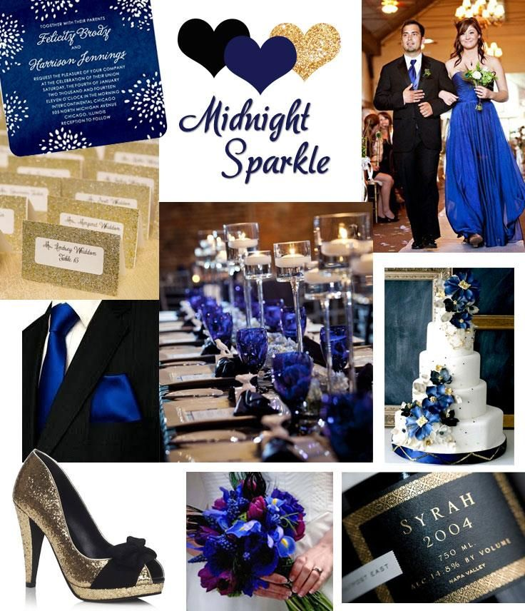 40 best black and royal blue wedding images on pinterest for Midnight blue centerpieces