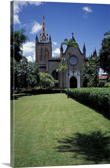 Caribbean, Trinidad, Port of Spain. Trinity Cathedral