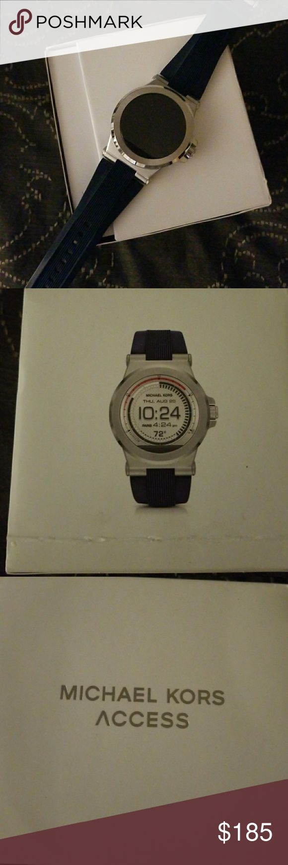 Men's Michael Kors Smartwatch Good condition,  Navy Blue, works better for Android users Michael Kors Accessories Watches
