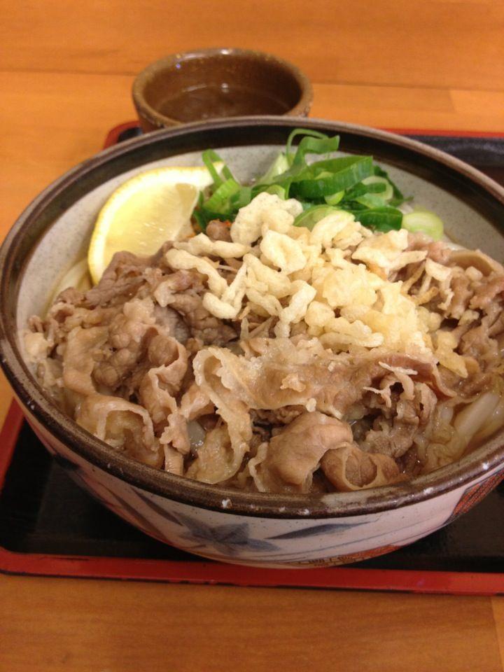 Sanuki Udon, kagawa, Japan 肉ぶっかけ 丸亀