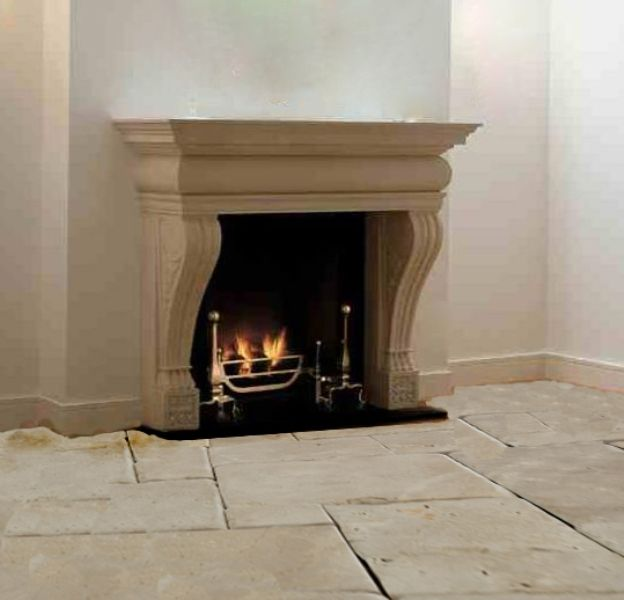 Awesome chimenea de piedra modelo toscanastone chimney - Chimenea de piedra ...