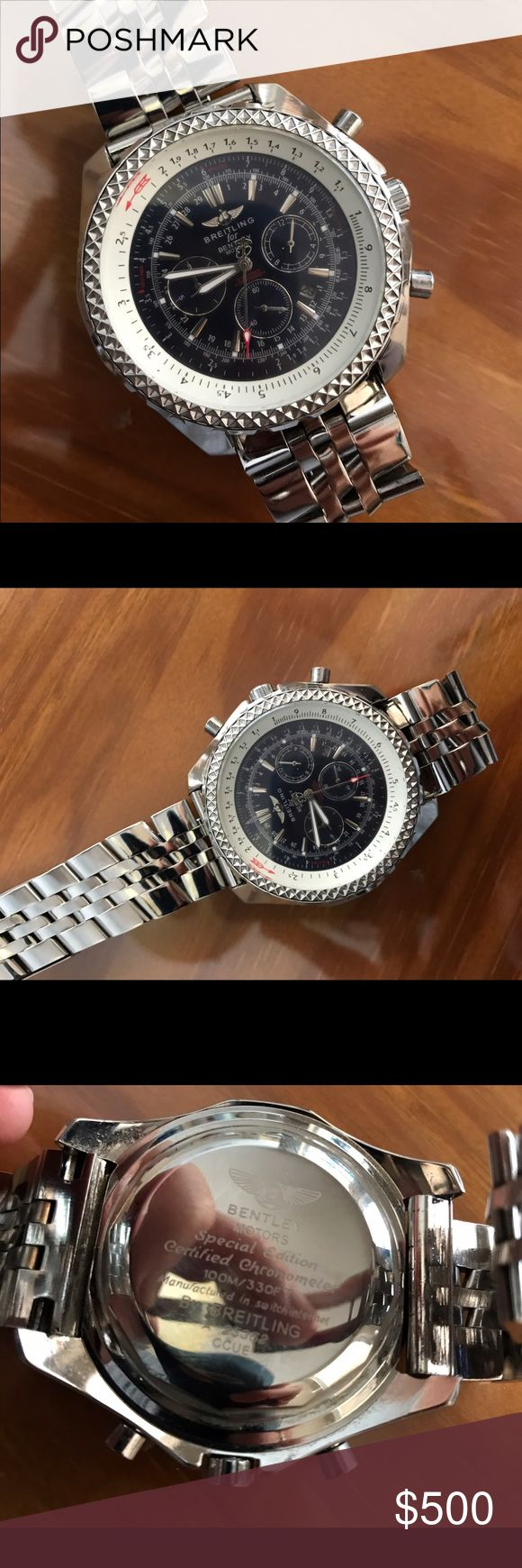 Breitling Watch Mens Bentley Special Edition Breitling Watch Mens Bentley Special Edition. Beautiful watch in excellent condition. I do not have receipt or proof of authenticity but as far as I know, the watch is real, however I cannot guarantee it. This is why the price is so low. Breitling Accessories Watches