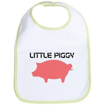 Little Piggy Pig  #pig, #piggy, #animal, #bib, #farm, #cute, #baby