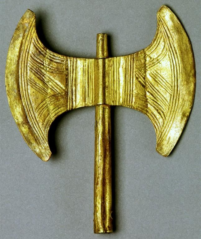 Minoan Double Axe: Once used for sacrificial rites,