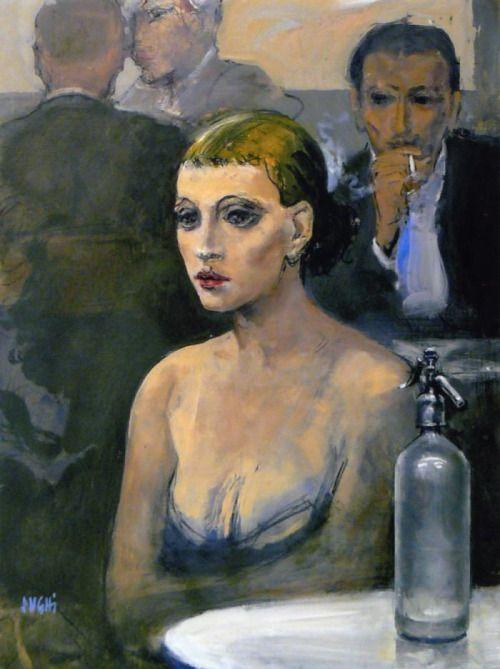 Alberto Sughi - Donna al Bar