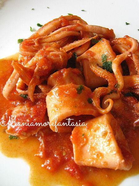 Calamari+in+umido,+ricetta+light