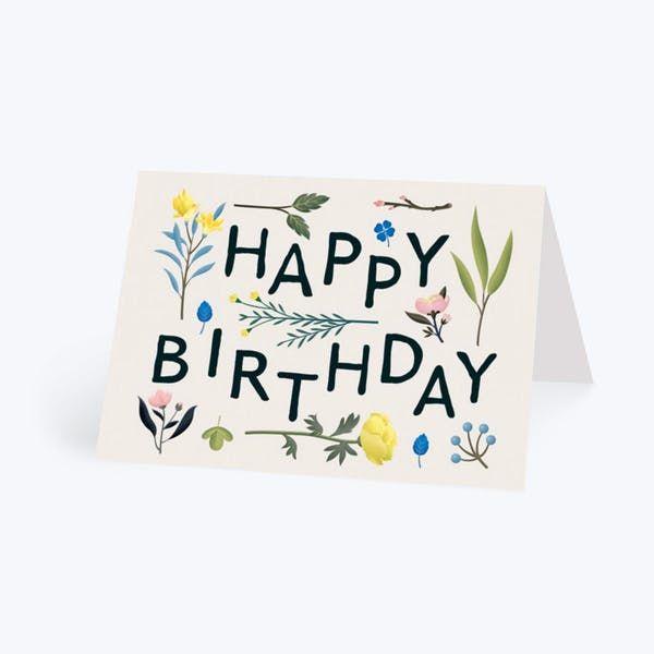 Birthday Plant Variety Personalised Birthday Card Birthday Cards For Her Personalized Birthday Cards Birthday Cards