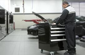 Rousseau Metal Heavy-duty, reliable and durable toolboxes for optimum tool storage! Customized workcenter to meet the needs of technicians and Store your parts using one-sixth of the space!