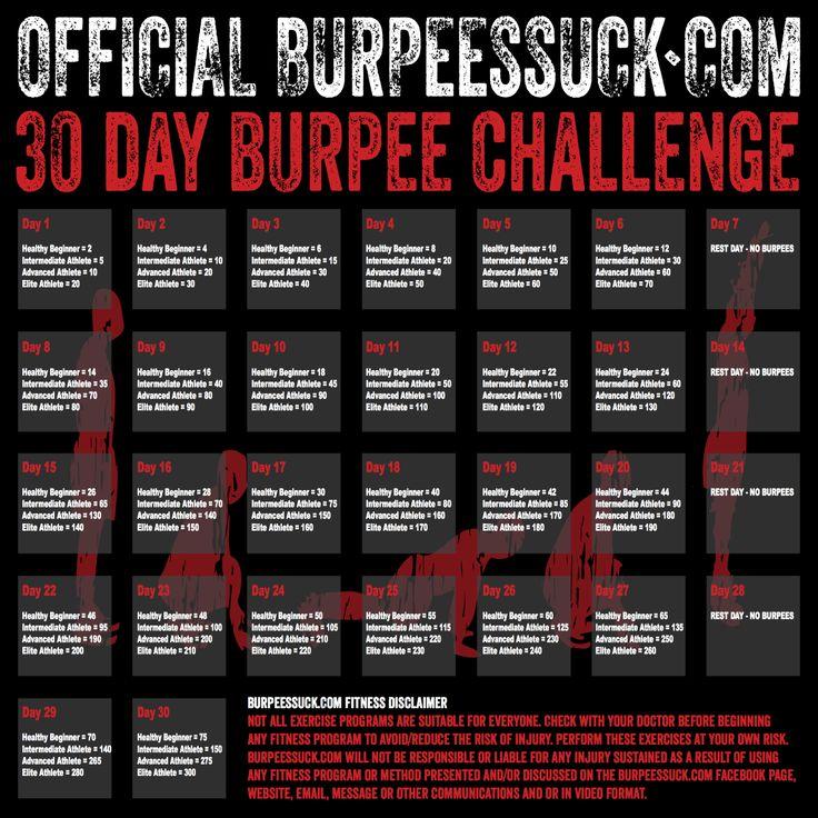 BURPEES SUCK 30 DAY CHALLENGE POSTER_1.jpg (2250×2250) | cool ideas ...
