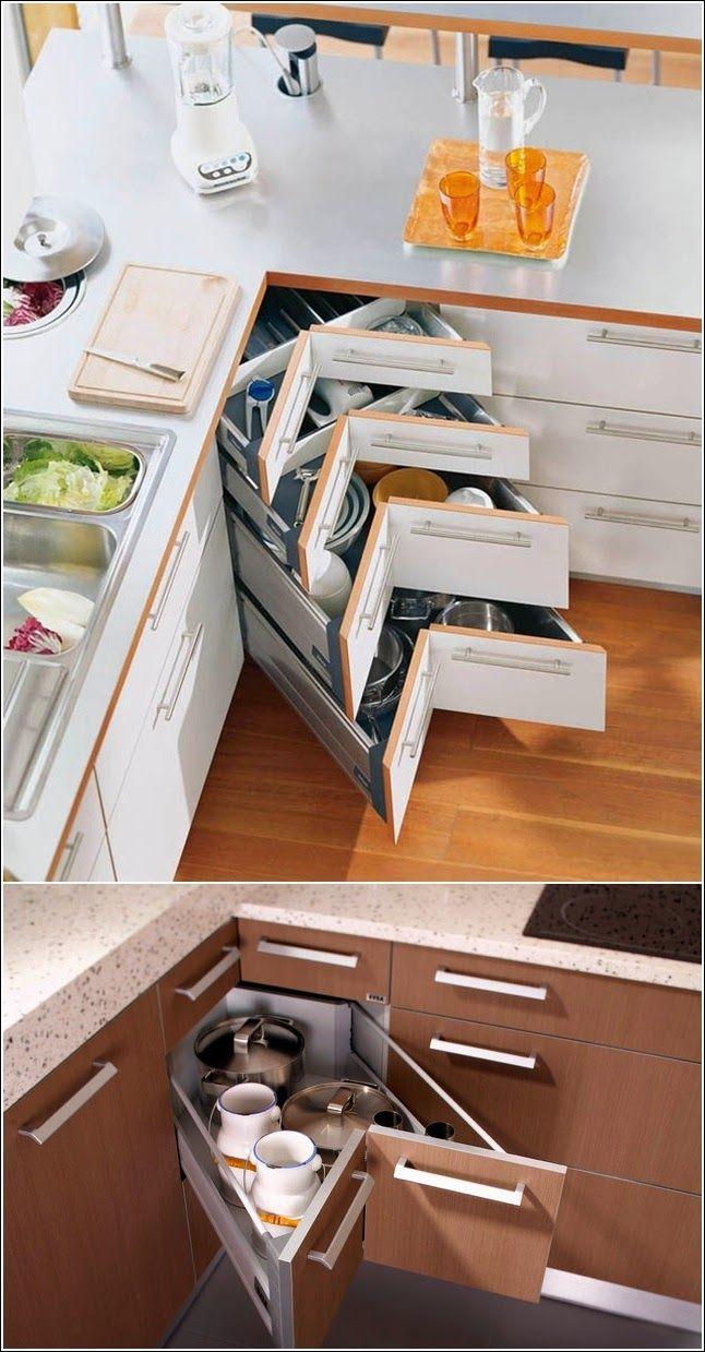 Laci pojok kabinet dapur minimalis