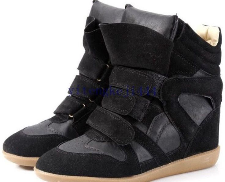 Annakestle Womens Velcro Strap High-TOP Sneakers Shoes/Ladys Ankle Wedge Boots  #100NEW #FashionSneakers