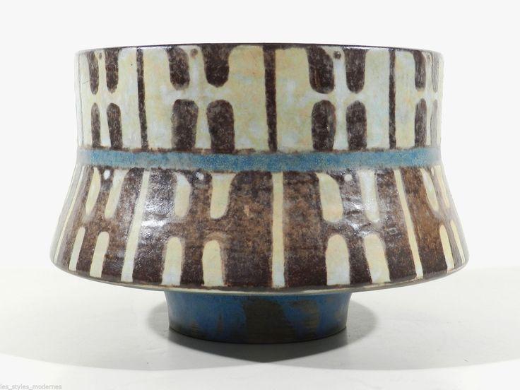 Karlsruher Majolika Keramik Schale / Vase VÖGEL ° Werkstatt Eva Fritz Lindner in Antiquitäten & Kunst, Porzellan & Keramik, Keramik | eBay